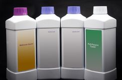 Productos de limpieza. Fotografía de archivo libre de regalías