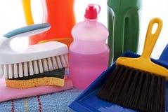 Productos de limpieza Imagen de archivo libre de regalías