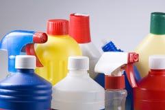 Productos de limpieza Fotos de archivo libres de regalías