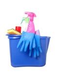 Productos de limpieza Foto de archivo libre de regalías