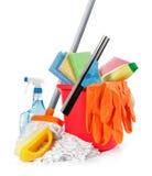 Productos de limpieza Imágenes de archivo libres de regalías