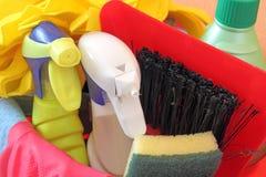Productos de limpieza Fotografía de archivo