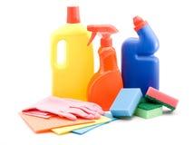 Productos de limpieza Fotos de archivo