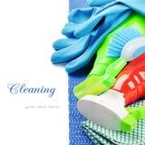 Productos de limpieza coloridos imagen de archivo libre de regalías
