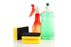 Productos de limpieza de discos de la higiene para el hogar Imagenes de archivo
