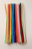 Productos de limpieza de discos de tubo coloridos Imágenes de archivo libres de regalías