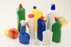 Productos de limpieza del hogar. Imágenes de archivo libres de regalías