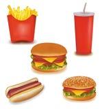 Productos de los alimentos de preparación rápida. Imagen de archivo