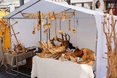 Productos de madera hechos a mano Foto de archivo