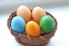 Productos de Pascua, huevos Foto de archivo libre de regalías