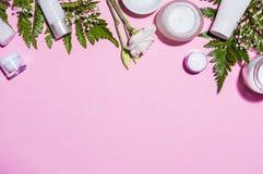 Productos de Skincare para las mujeres Imagen de archivo