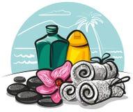 Productos del balneario Foto de archivo libre de regalías