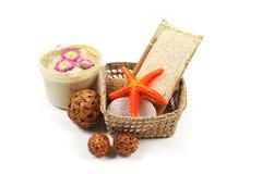 Productos del balneario y de belleza. Fotos de archivo libres de regalías