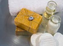 Productos del balneario y del skincare Fotografía de archivo libre de regalías
