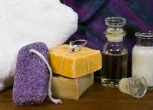 Productos del balneario y del skincare Fotos de archivo libres de regalías