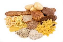 Productos del carbohidrato con la patata fotografía de archivo libre de regalías