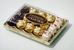 Productos del chocolate de la colección de Ferrero Foto de archivo libre de regalías