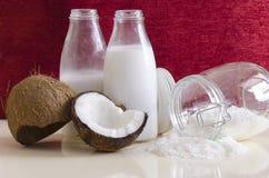 Productos del coco Imagen de archivo libre de regalías
