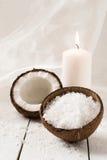 Productos del coco y del balneario imagen de archivo libre de regalías