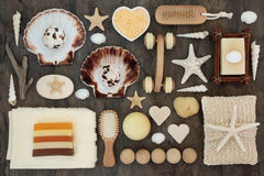 Productos del cuarto de baño y del balneario Imagenes de archivo