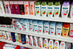 Productos del gel de la ducha Foto de archivo