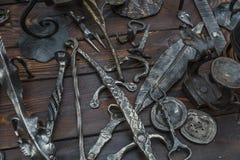 Productos del hierro labrado Foto de archivo libre de regalías