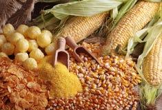 Productos del maíz Fotos de archivo libres de regalías
