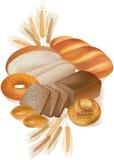 Productos del pan y de la panadería Foto de archivo libre de regalías