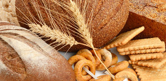 Productos del pan y de la panadería Imagen de archivo