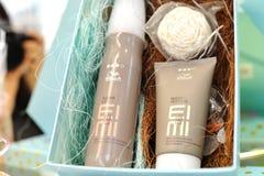 Productos del tinte de pelo de Alemania de los profesionales de Wella cuidado del peinado, diseñando y coloreando fotografía de archivo libre de regalías