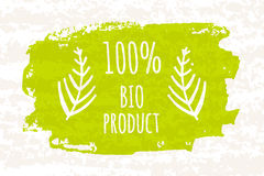 Productos del verde 100 coloridos creativos del cartel los bio para que una dieta sana y una adherencia adieten aislaron en el fo Fotografía de archivo libre de regalías
