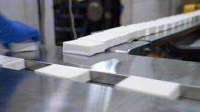 Productos embalados de las instalaciones lecheras metrajes