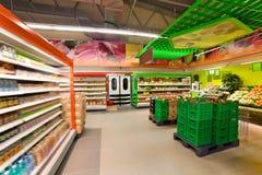 Productos en el supermercado Foto de archivo libre de regalías