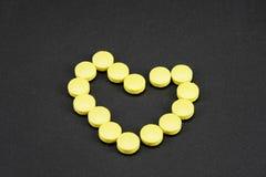 Productos farmacéuticos del corazón Fotos de archivo libres de regalías