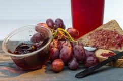 Productos hechos de las uvas Fotos de archivo