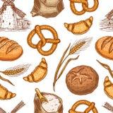 Productos inconsútiles de la panadería Fotografía de archivo libre de regalías