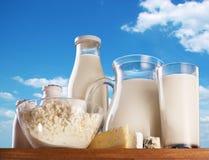 Productos lácteos. Fotos de archivo