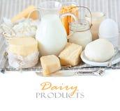 Productos lácteos. Fotografía de archivo libre de regalías