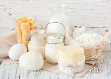 Productos lácteos. Fotos de archivo libres de regalías