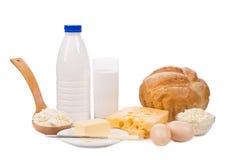 Productos lácteos deliciosos Foto de archivo libre de regalías