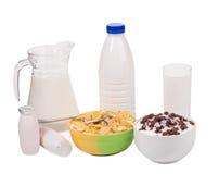 Productos lácteos deliciosos Imágenes de archivo libres de regalías
