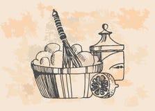 Productos lácteos fijados Foto de archivo libre de regalías