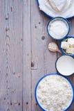 Productos lácteos frescos Fotos de archivo libres de regalías