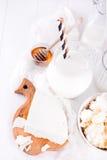 Productos lácteos frescos Imagenes de archivo