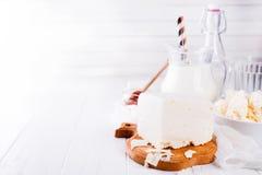 Productos lácteos frescos Fotografía de archivo