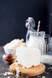 Productos lácteos frescos Imagen de archivo libre de regalías