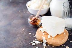 Productos lácteos frescos Fotos de archivo