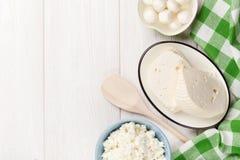 Productos lácteos Vario queso imagen de archivo libre de regalías