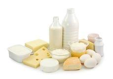 Productos lácteos y huevos Foto de archivo libre de regalías