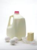 Productos lácteos y huevos Imagen de archivo libre de regalías